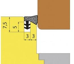 DIPRO L2020 prídavné naliehavkové tesnenie okien - hnedé