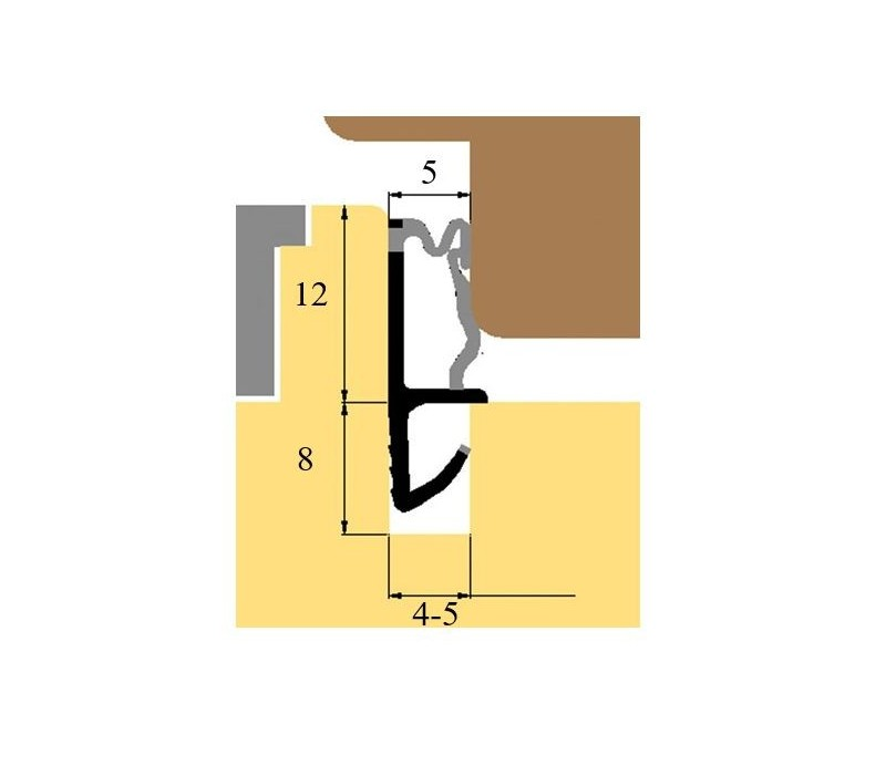 Okenné stredové tesnenie K5586