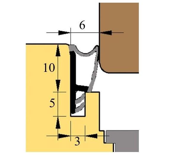 Prídavné naliehavkové tesnenie okien  L5110