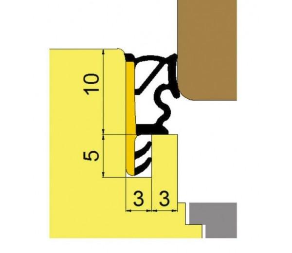 Okenné prídavné naliehavkové tesnenie okien L6010