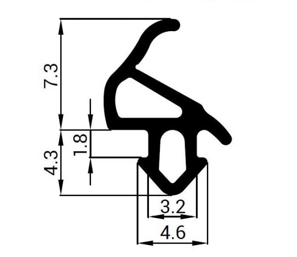 Tesnenie do PVC okien - profil ALUPLAST