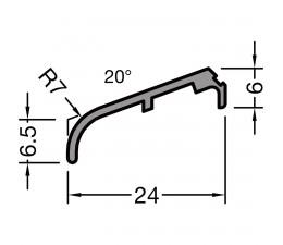 Krídlová okapnica FP-8532, svetlý bronz