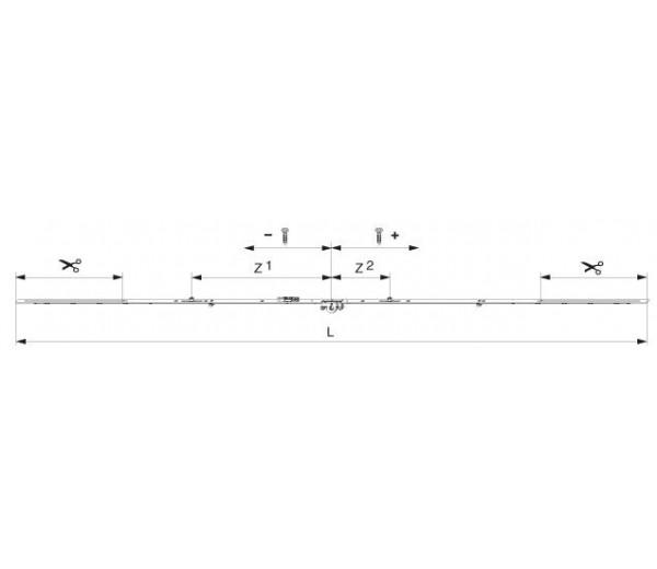 MACO  otváravo-sklopná variabilná prevodovka pre výšku 1251-1750 mm MULTI-MATIC