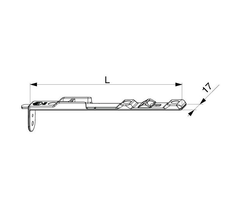 MACO okenná zástrč vrchná hladký falc 18 mm MULTI-MATIC