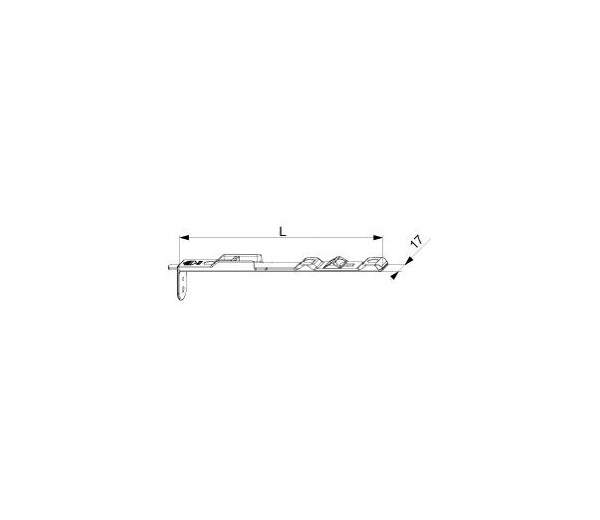 MACO okenná zástrč vrchná pre drážku 7/8 mm MULTI-MATIC