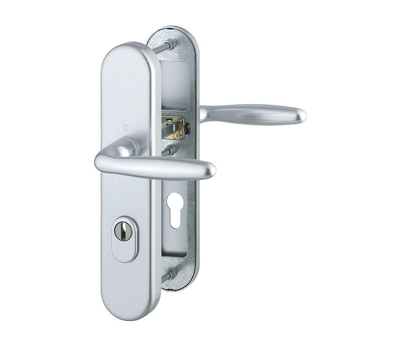 Dverová kľučka-kľučka Verona 53 mm so zakrytou cylindrickou vložkou