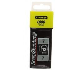 STANLEY - sponky na káble Typ7  12mm, 1000ks,STANLEY 1-CT108T