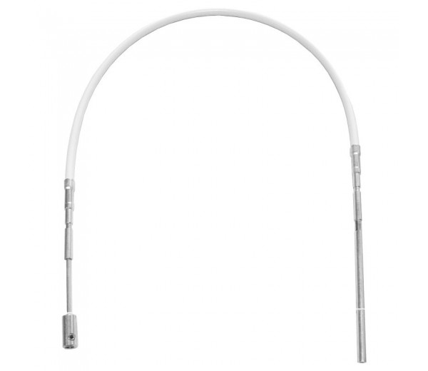 GEZE OL90N flexibilné tiahlo biele + strieborné 700mm