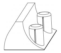 MACO koncovka pre dverové protikusy 12/18 mm