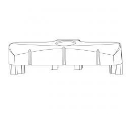 MACO rámový protikus pre PVC REHAU, ALUPLAST