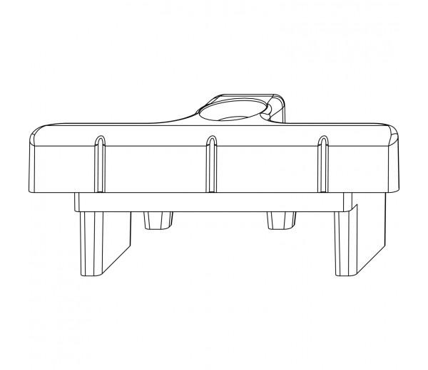 MACO rámový protikus do kovacej drážky pre dvojkrídlové PVC okná