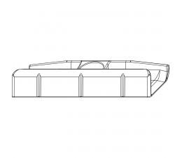 MACO rámový protikus pre hladký falc 20 mm